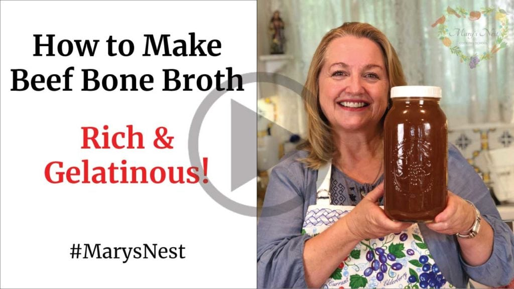 Mary's Nest How to Make Beef Bone Broth that is Rich and Gelatinous
