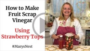 How to Make Fruit Scrap Vinegar with Strawberries