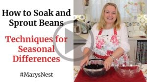 How to Soak and Sprout Beans YouTube video