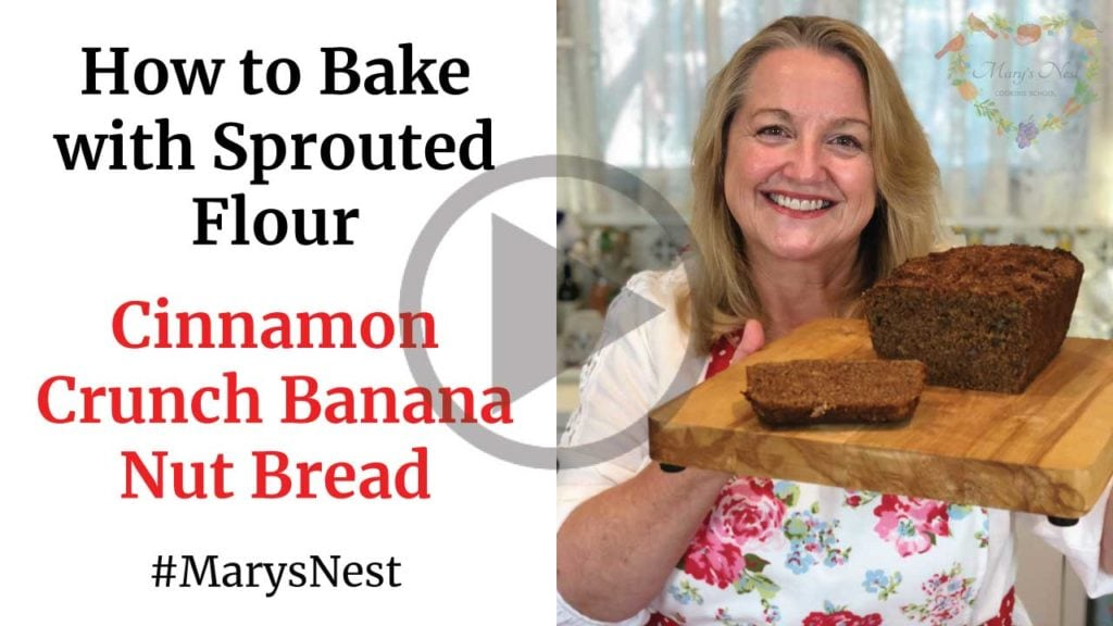 How to Bake Sprouted Flour - Cinnamon Crunch Banana Bread YouTube video