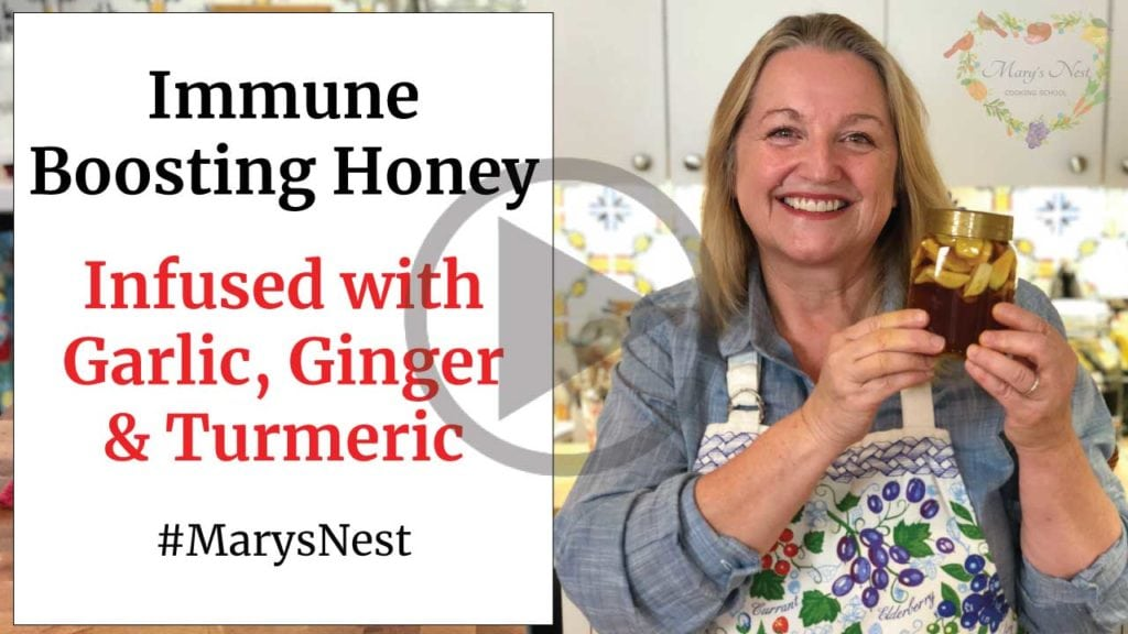 Immune Boosting Honey - Infused with Garlic, Ginger, and Turmeric Video
