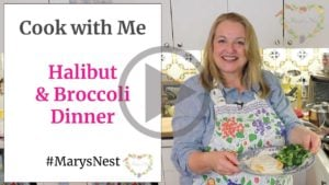 Cook with Me - Halibut and Broccoli Dinner Recipe Video