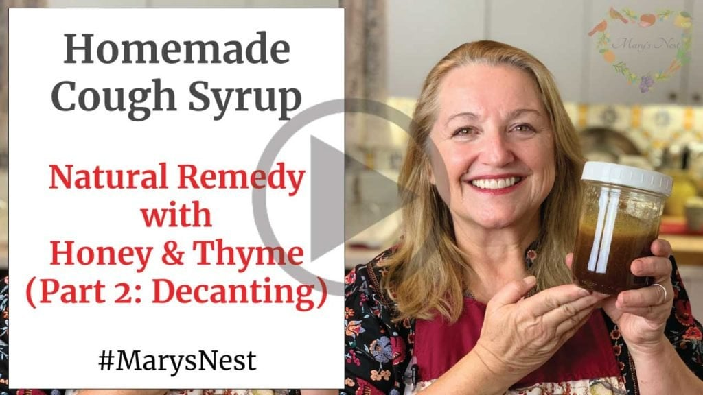 Homemade Cough Syrup Remedy Recipe Decanting Video