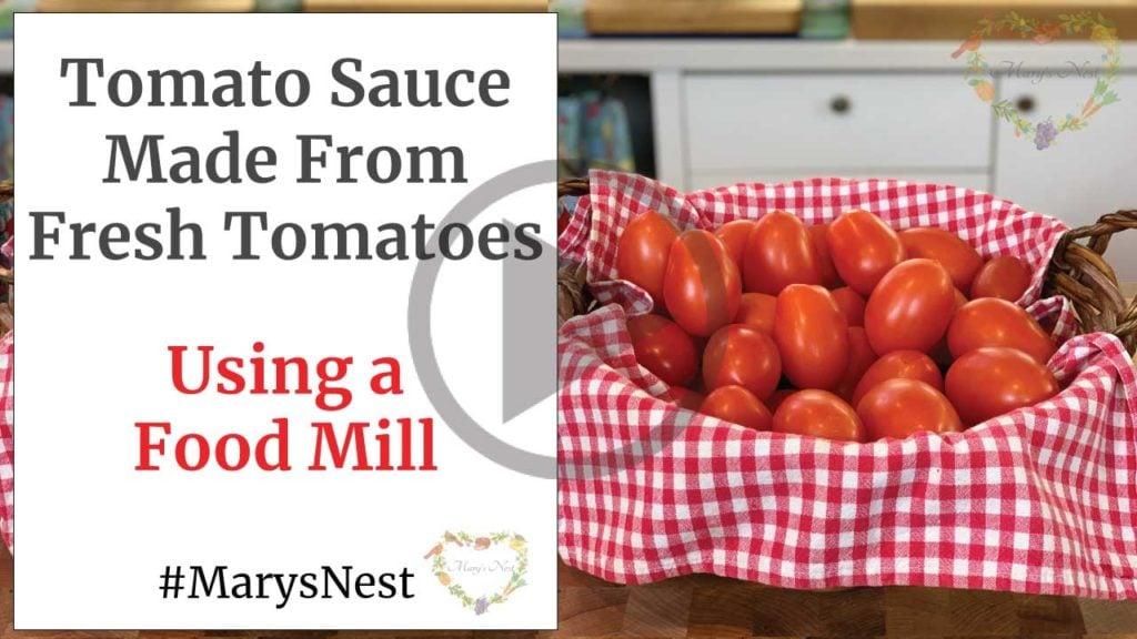 Homemade Tomato Sauce Recipe Video