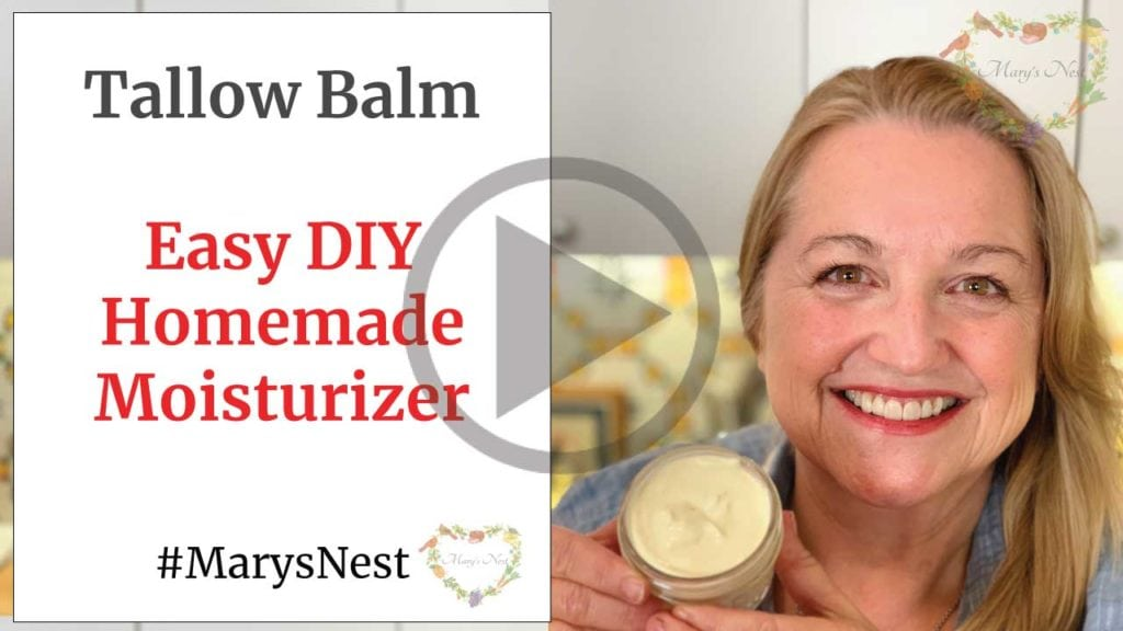 Tallow Balm Easy DIY Homemade Moisturizer Recipe Video