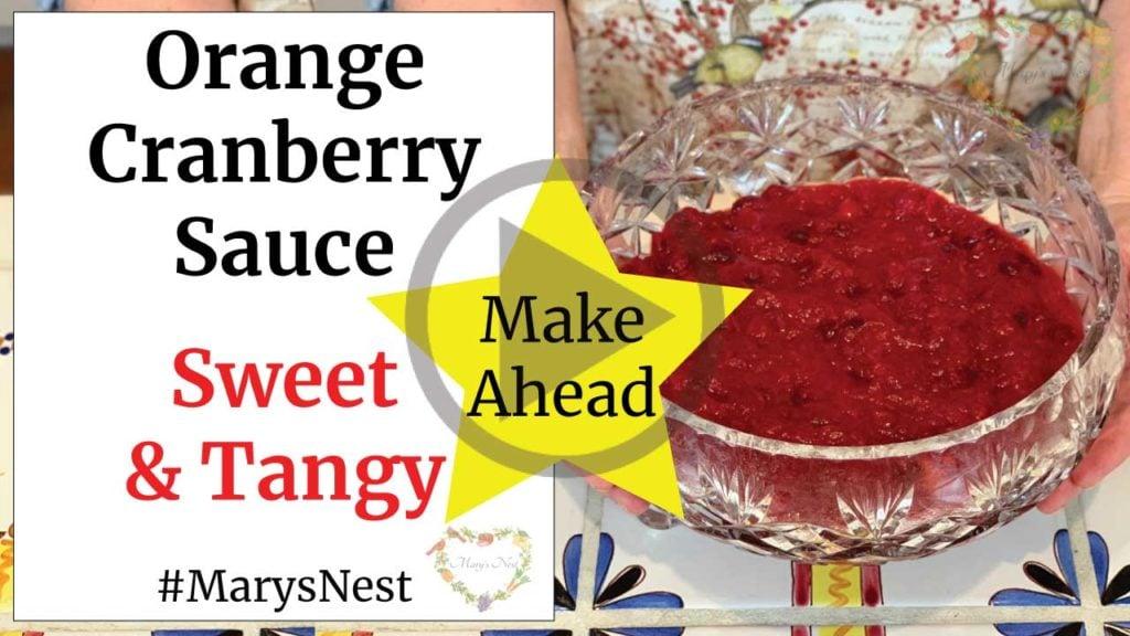 Orange Cranberry Sauce Recipe Video
