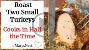 Roast Two Small Turkeys Recipe Video