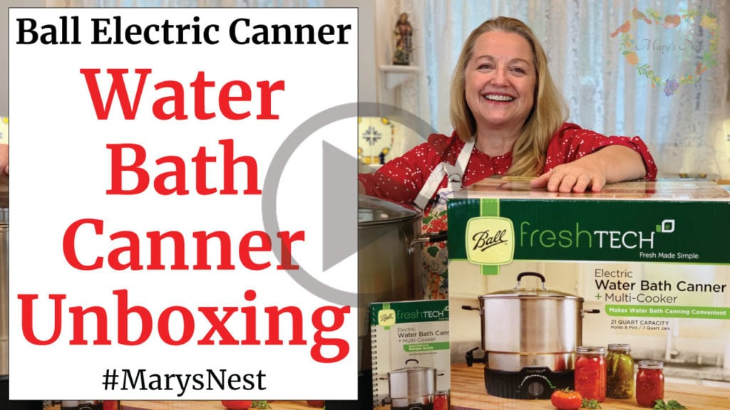 Ball Electric Water Bath Canner Unboxing Video