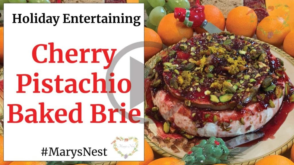 Cherry Pistachio Baked Brie Recipe Video