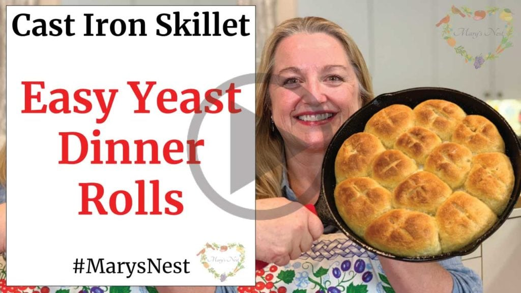 Easy Yeast Dinner Rolls Cast Iron Skillet Recipe Video