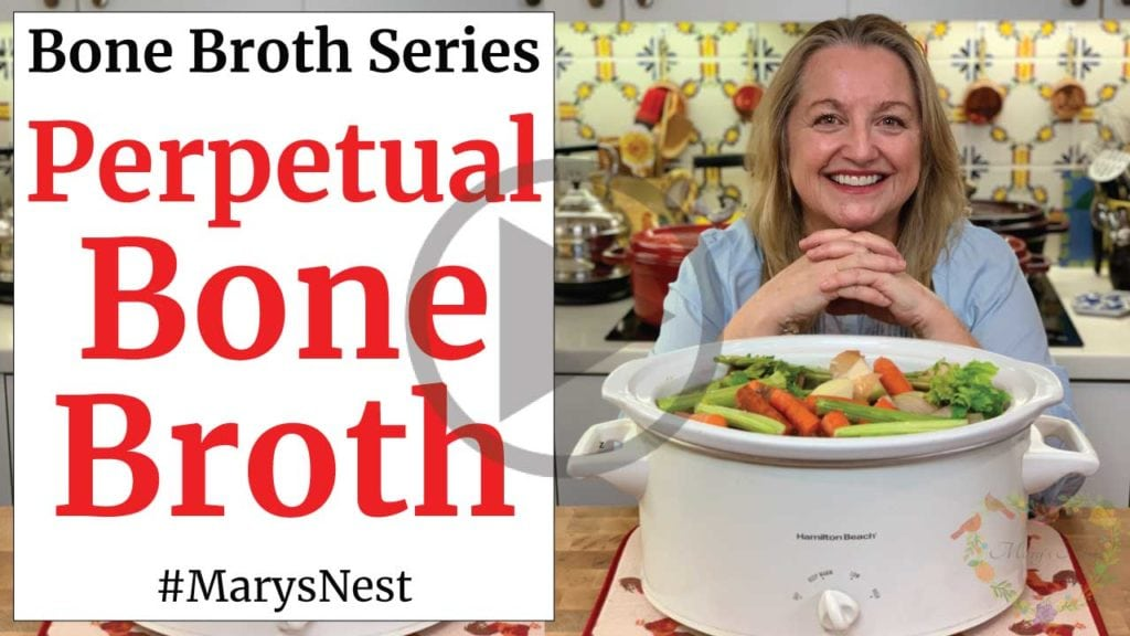 How to Make Perpetual Beef Bone Broth - Reuse Beef Bones for Endless Broth Video