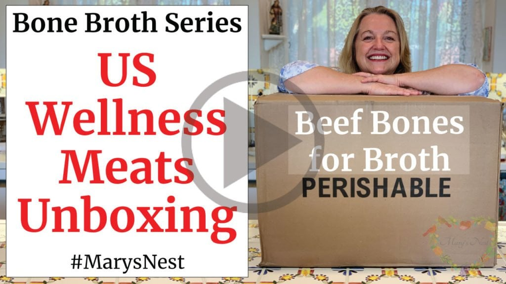 Mary with a US Wellness Meats shipping box.