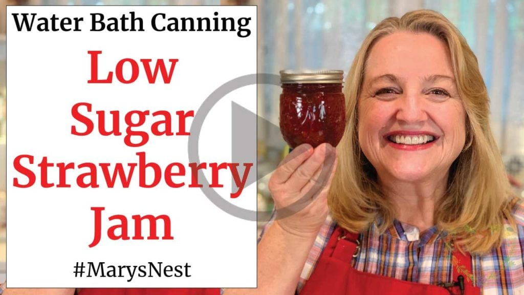 Low Sugar Strawberry Jam Recipe Video