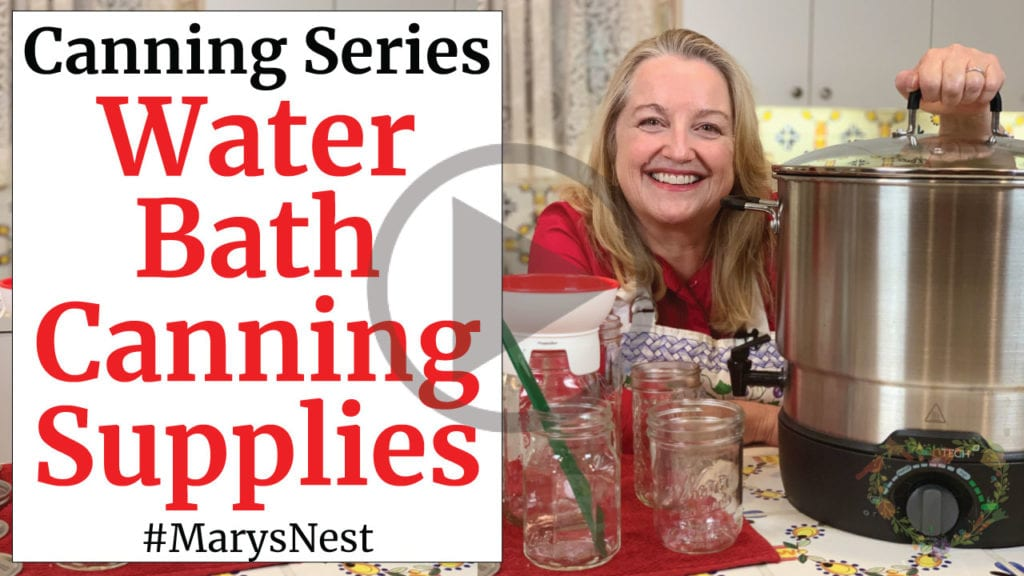 Canning Supplies - WaterBath Canning 101 - Home Canning Basics for Beginners Series Video