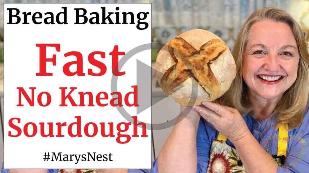 Fast No Knead Sourdough Recipe Video