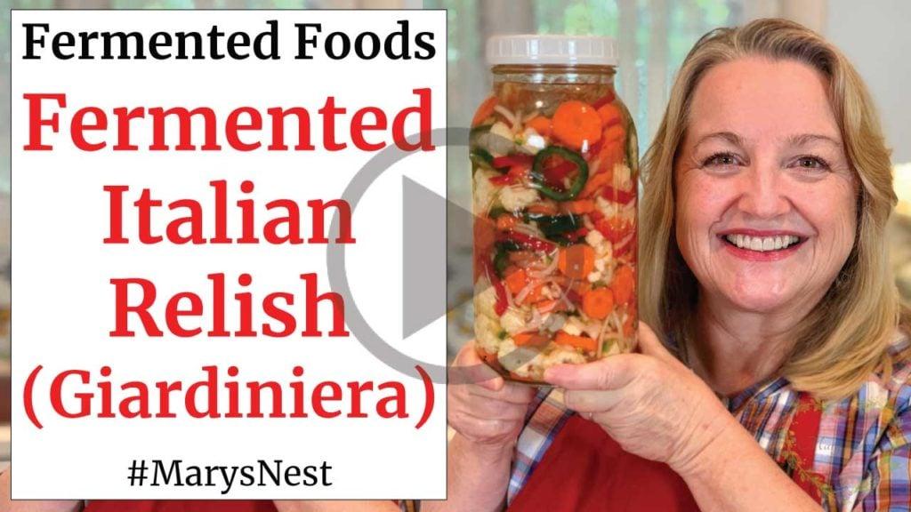 How to Ferment Vegetables Giardiniera Recipe Video