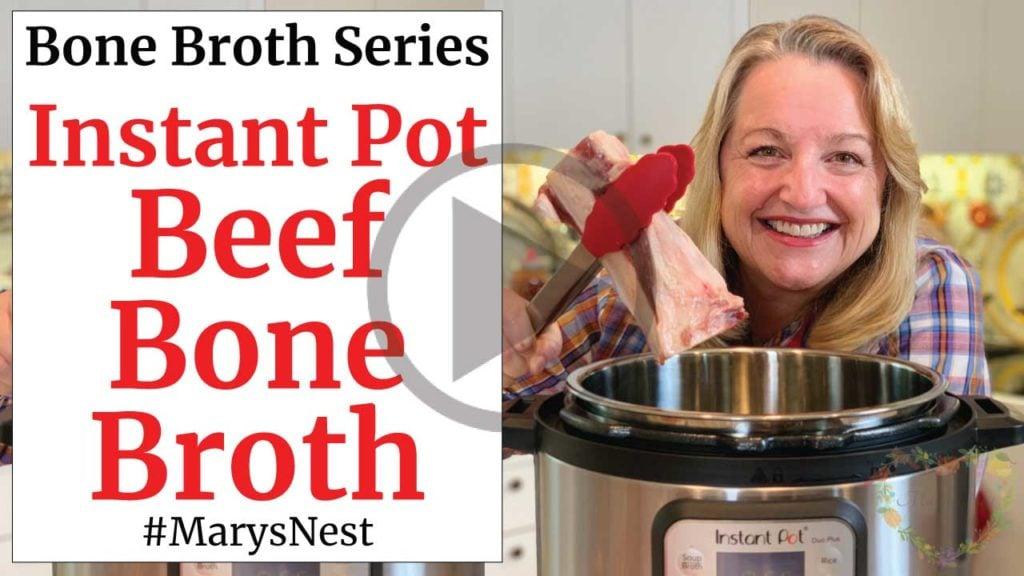 Instant Pot Beef Bone Broth Recipe Video