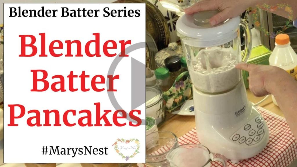 Whole Grain Blender Batter Pancake Recipe - No Grain Mill Required video