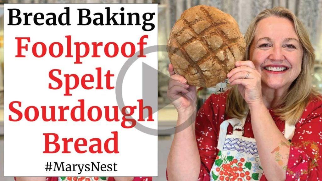 Foolproof Spelt Sourdough Bread Recipe Video