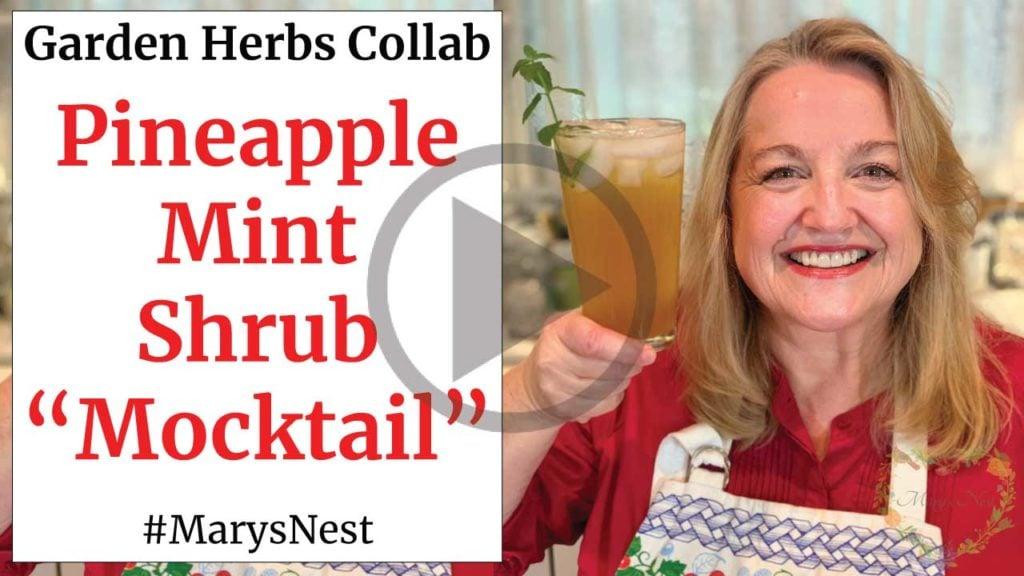 Pineapple Mint Shrub Mocktail Recipe Video