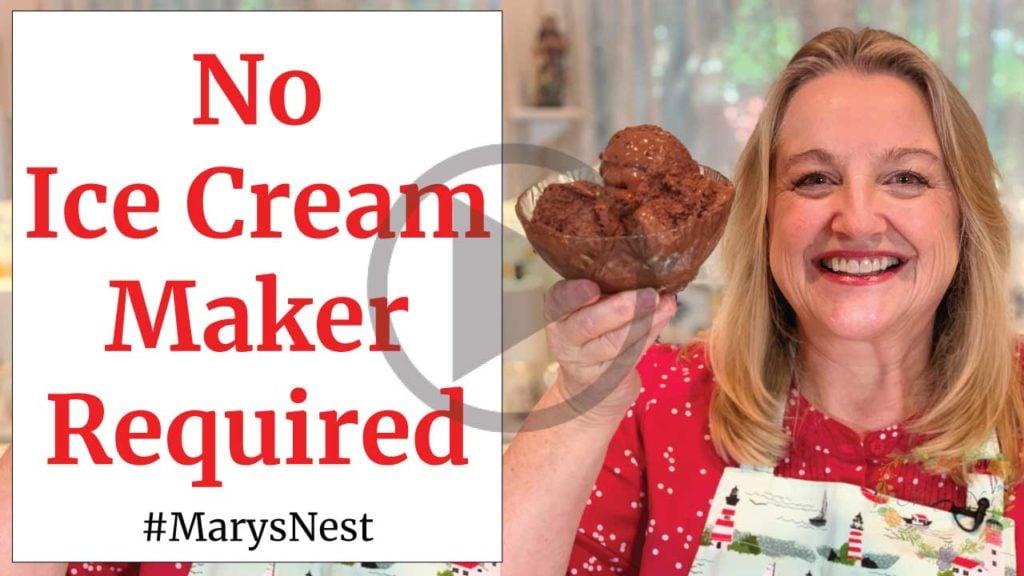 Homemade Chocolate Ice Cream Recipe Video
