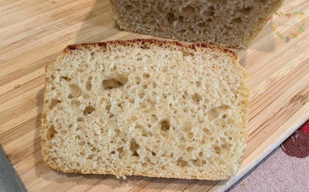 Salt Rising Bread loaf and slice