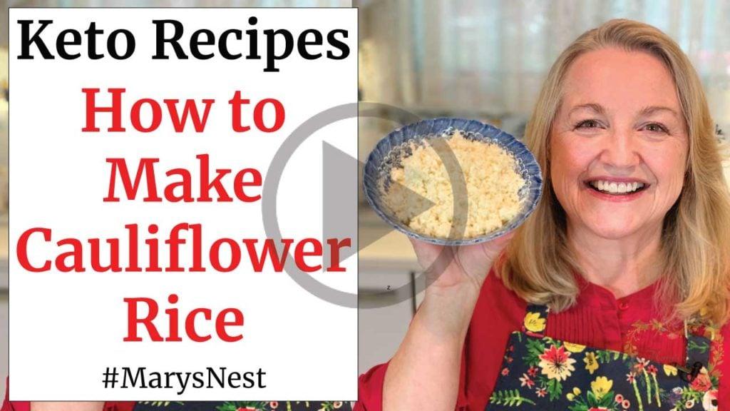 How to Make Cauliflower Rice video