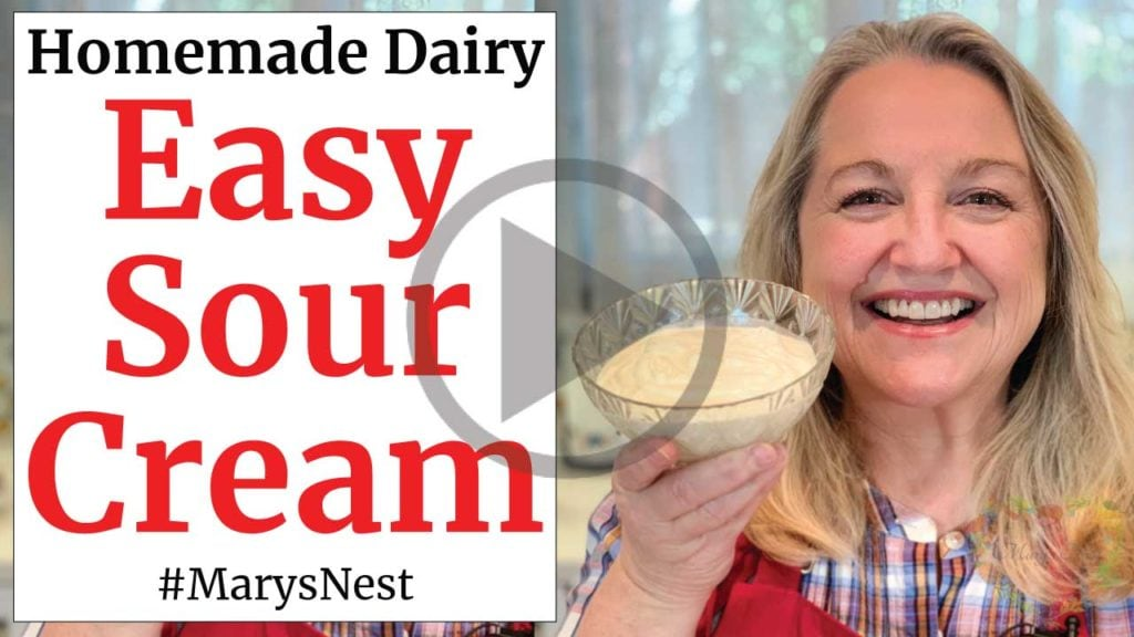How To Make Sour Cream With 2 Ingredients Mary S Nest